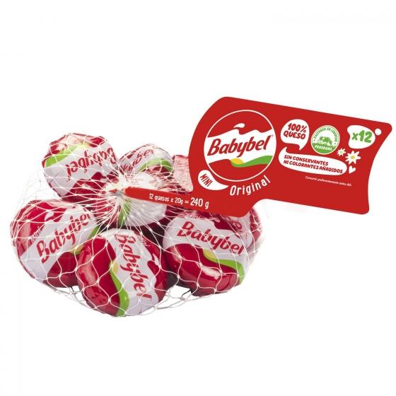 Mini quesitos Babybel pack de 12 unidades de 20 g.