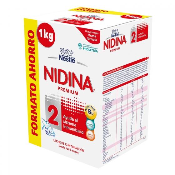 Leche infantil de continuación desde 6 meses en polvo Nestlé Nidina Premium 2 pack de 2 unidades de 500 g.