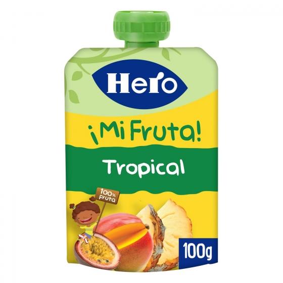 Preparado de fruta tropical Hero Nanos sin gluten bolsita de 100 g.