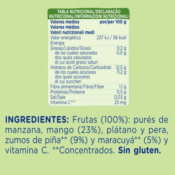 Preparado de fruta tropical Hero Nanos sin gluten bolsita de 100 g. - 1