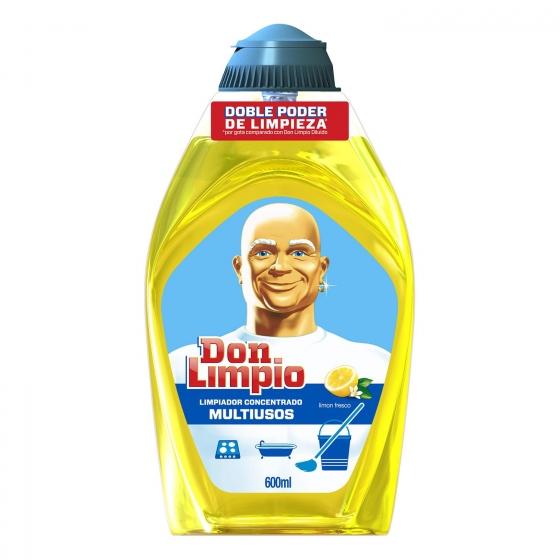 Limpiador multiusos en gel aroma limón fresco Don Limpio 600 ml.