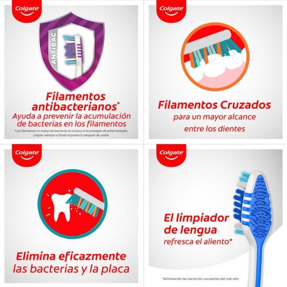Cepillo dental zigzag medio Colgate 3 ud - 5