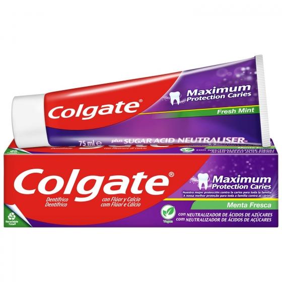 Dentífrico maximum protección caries menta fresca Colgate 75 ml.