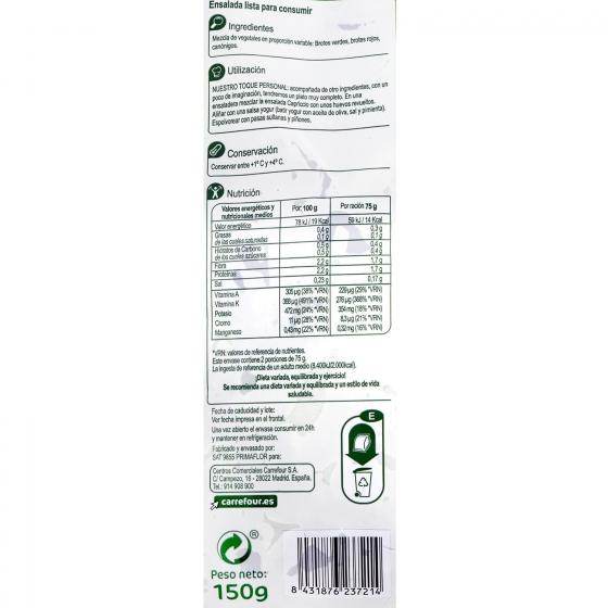 Ensalada capriccio Carrefour 150 g - 3