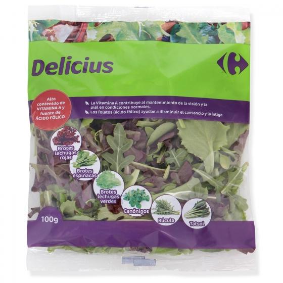 Ensalada brotes tiernos delicius Carrefour bolsa 100 g - 1