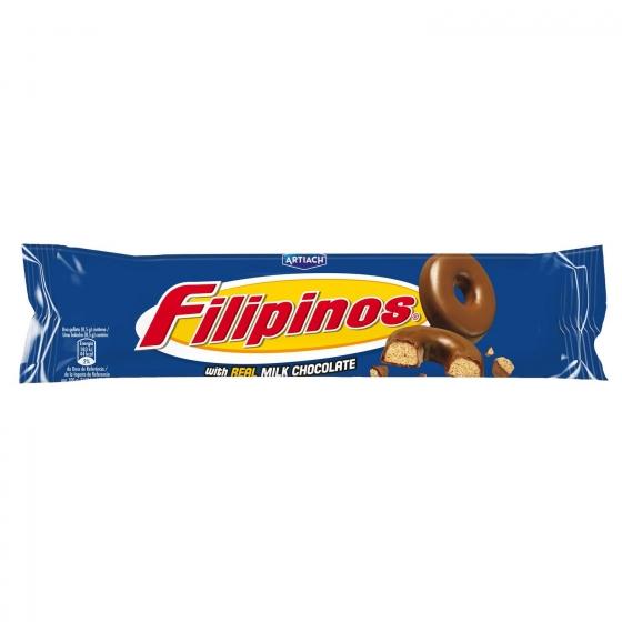 Filipinos con chocolate con leche 100 g.
