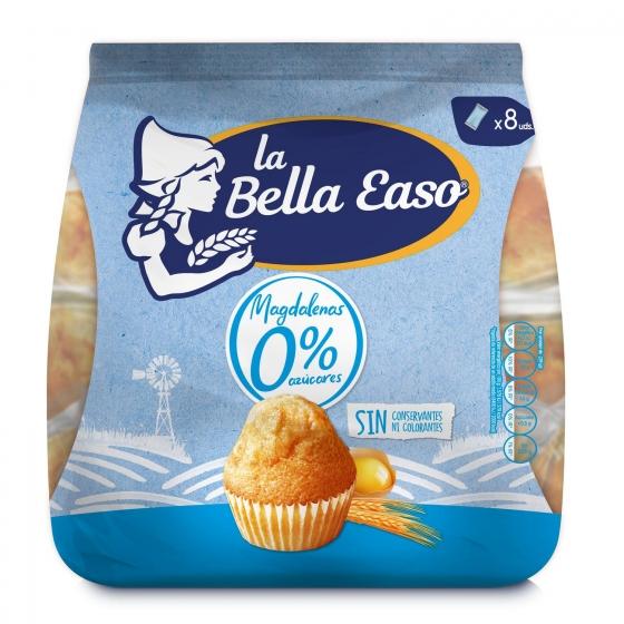 Magdalenas 0% azúcares La Bella Easo 240 g.