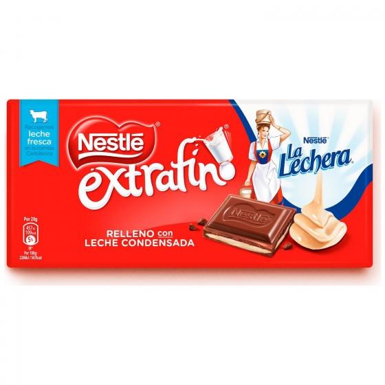 Chocolate con leche extrafino relleno de leche condensada Nestlé 100 g.