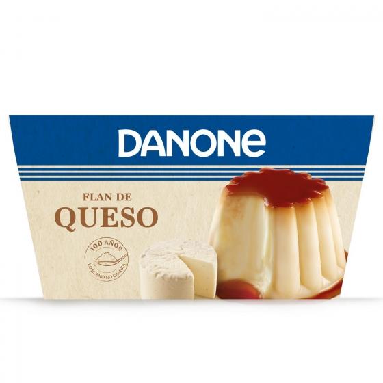 Flan de queso Danone pack de 4 unidades de 100 g.