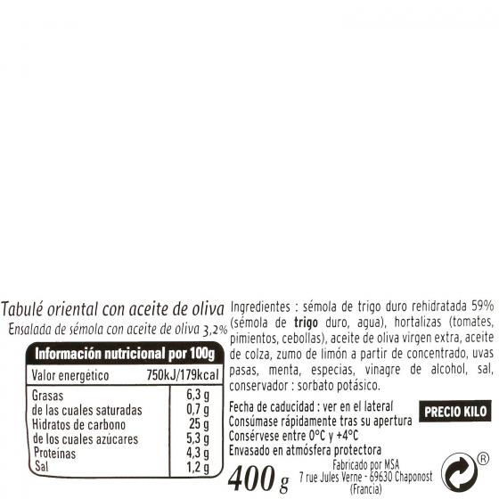Tabule oriental Pierre Martinet 400 g. - 3