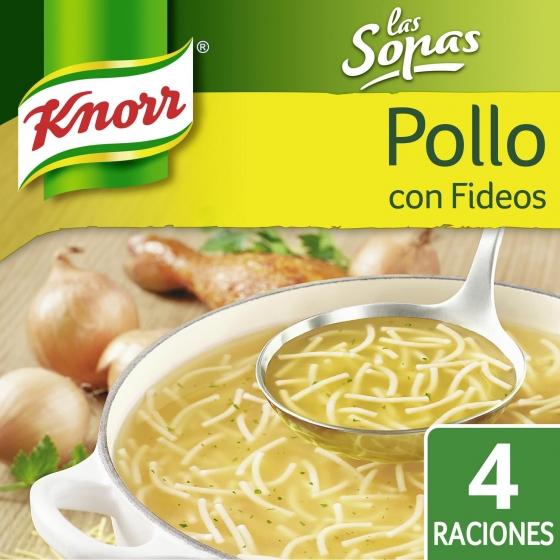 Sopa de pollo con fideos Knorr 63 g. - 1