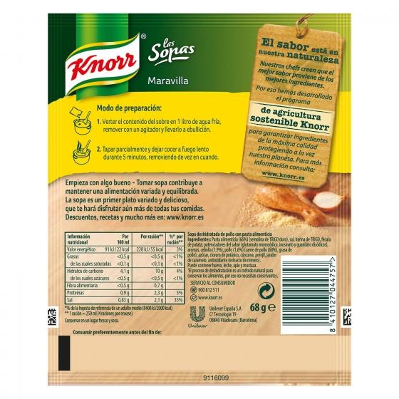 Sopa Maravilla Knorr 68 g. - 1
