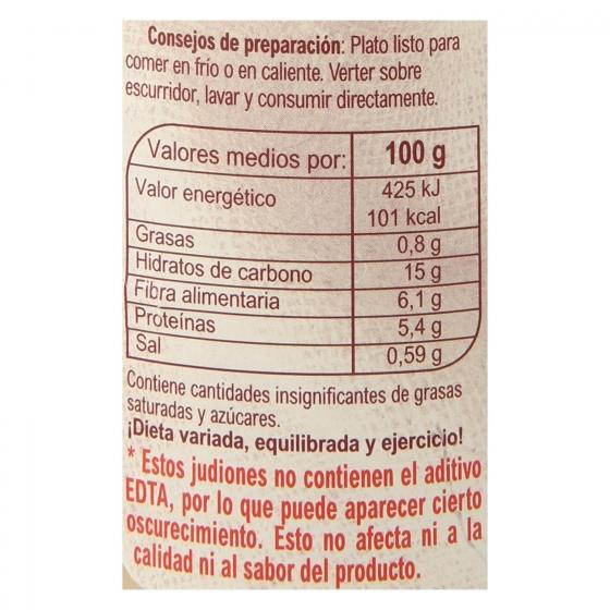 Judión cocido Carrefour 400 g. - 3