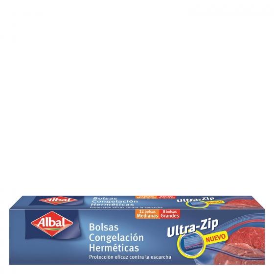 Bolsas de congelación 2 tamaños Ziploc Albal 20 ud.