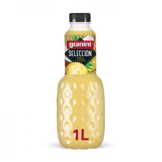 Zumo de piña y coco Granini Selección Mix botella 1 l.