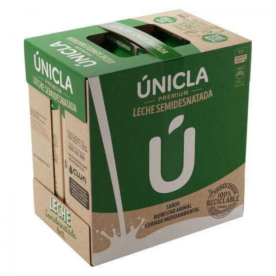 Leche semidesnatada Únicla Premium brik 1 l. - 3