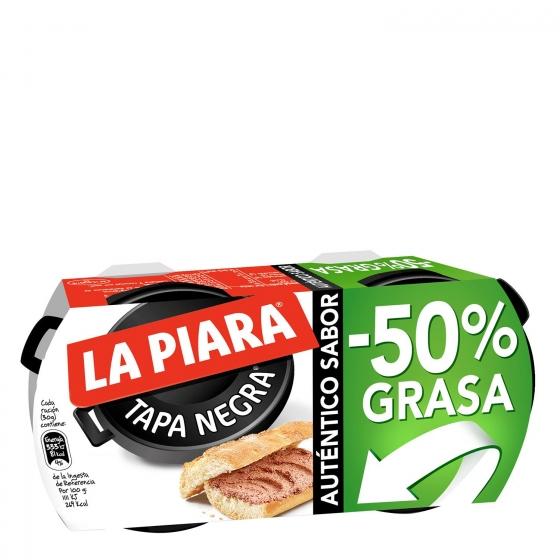 Paté -50% grasa La Piara pack de 2 unidades de 73 g.