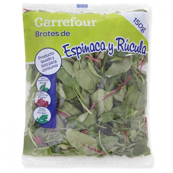 Brotes de espinacas - rúcula Carrefour bolsa 150 g - 1