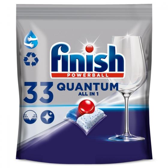 Lavavajillas máquina quantum en pastillas Finish 36 ud.