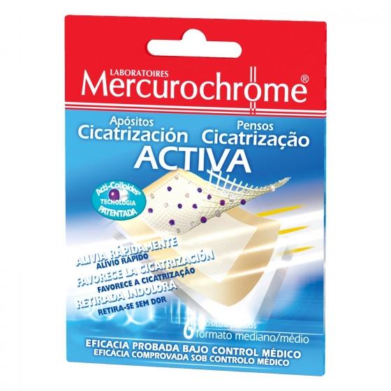 Apósitos cicatrizante Activa Mercurochrome 6 ud.