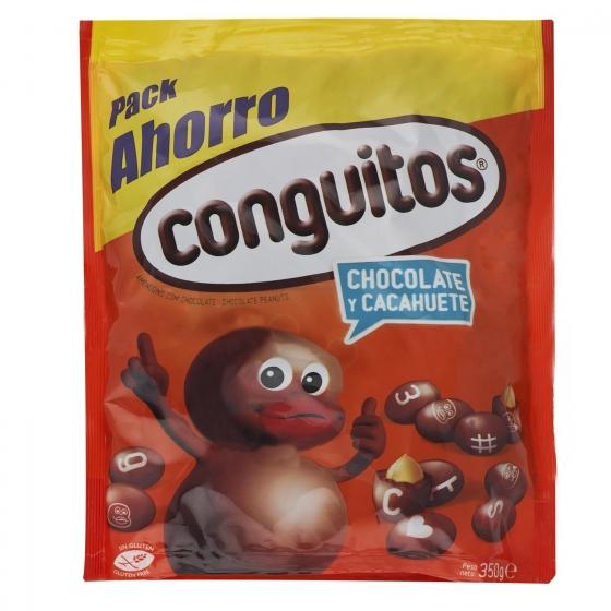 Cacahuete cubierto de chocolate Conguitos sin gluten 350 g.