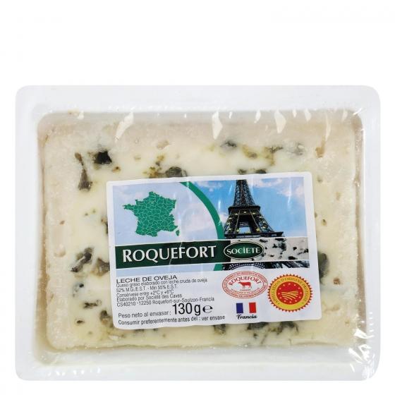 Queso azul roquefort Societé cuña 130 g - 3