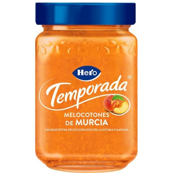 Mermelada de melocotón de temporada Hero 350 g.