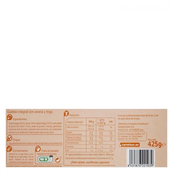 Galletas de avena Digestive Carrefour 425 g. - 1