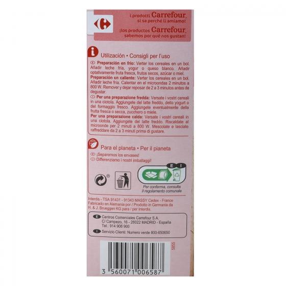 Copos de avena Carrefour 500 g. - 1
