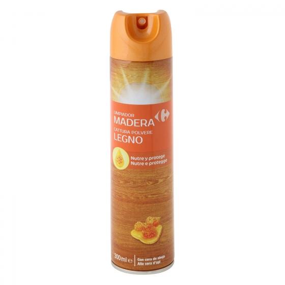 Limpiamuebles ceras Carrefour 300 ml.