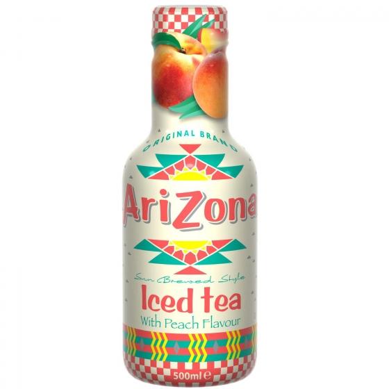 Refresco de té Arizona sabor melocotón botella 50 cl.