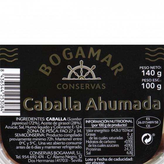 Filete de caballa ahumada, Conservas Bogamar 100 g - 1