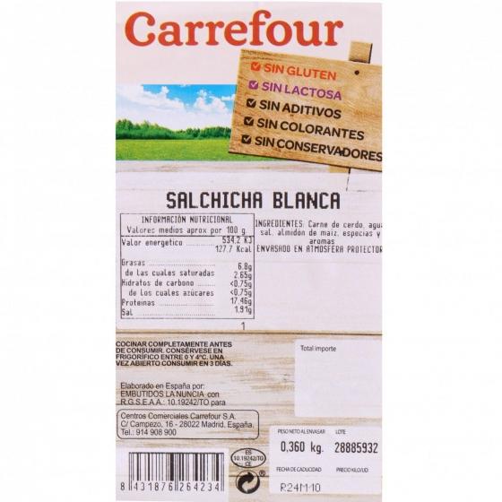 Salchicha Blanca Sin Aditivo Carrefour 360 g - 4