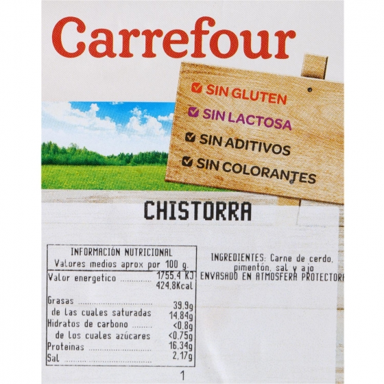 Chistorra Sin Aditivos Carrefour 300 g - 3