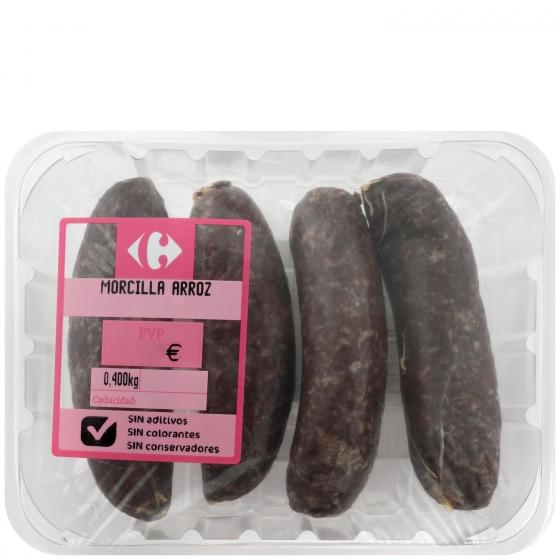Morcilla de Arroz Sin Aditivos Carrefour 400 g - 1