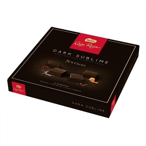 Bombones surtidos de chocolate negro 70% sublime Nestlé Caja Roja 16 ud. - 1
