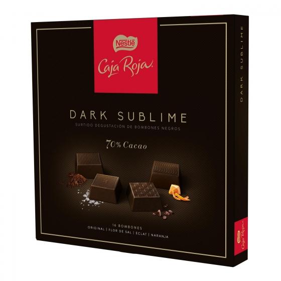 Bombones surtidos de chocolate negro 70% sublime Nestlé Caja Roja 16 ud. - 3