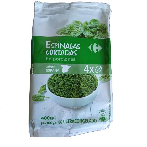 Espinacas cortadas en porciones Carrefour 400 g. - 1