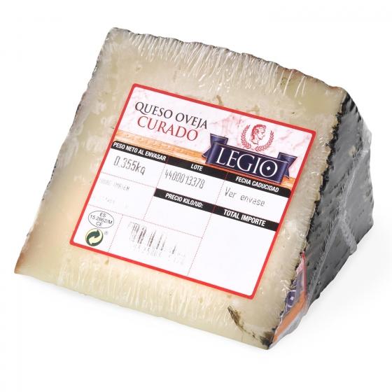Queso curado de oveja Legio cuña de 1/8, 300 g aprox