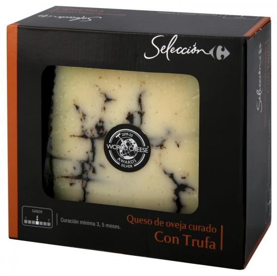 Queso curado de oveja trufado Carrefour Selección caja de luxe cuña de 200 g