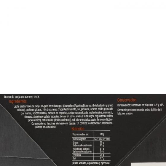 Queso curado de oveja trufado Carrefour Selección caja de luxe cuña de 200 g - 1