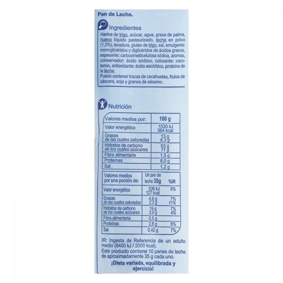 Pan de leche Carrefour 350 g. - 3