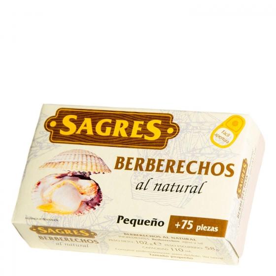 Berberechos al natural Sagres 58 g.