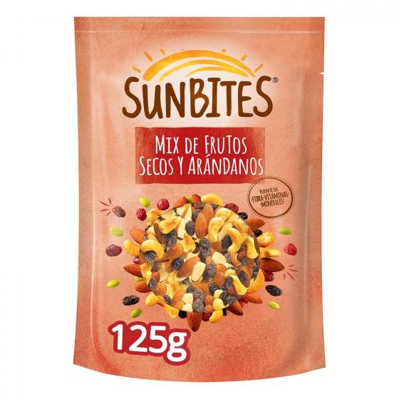 Cocktail de frutos secos y arándanos Sunbites 125 g.