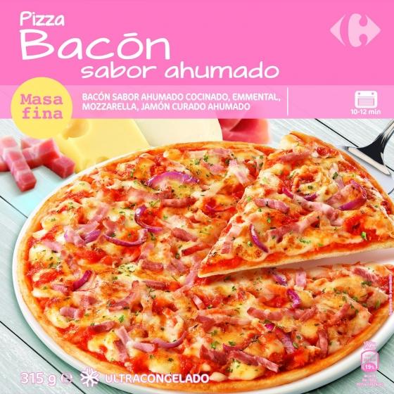 Pizza de bacon Carrefour 315 g.