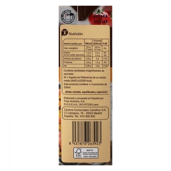 Caldo para paella Carrefour sin gluten 1 l. - 3