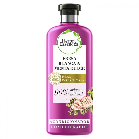 Acondicionador Purificante Fresa blanca & menta dulce bío:renew Herbal Essences 400 ml.