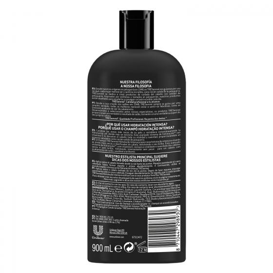 Champú Hidratación intensa cabello secos o dañados Tresemmé 900 ml. - 1