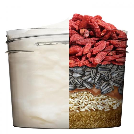 Mascarilla capilar 3 en 1 Hair Food Goji Reaviva brilo Para cabello teñido Garnier Fructis 390 ml. - 1