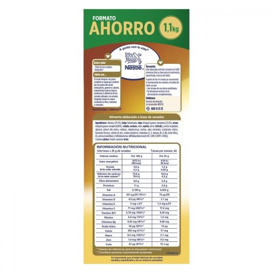 Papilla infantil desde 6 meses de 8 cereales integrales sin azúcar añadido Nestlé Nestum sin aceite de palma 1100 g. - 4